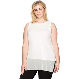 Rebel Wilson x Angel Collection Mesh Overlay Top